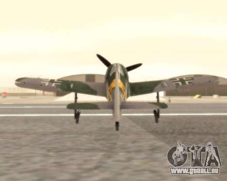 Focke-Wulf FW-190 F-8 pour GTA San Andreas vue de droite