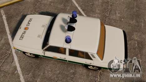 Wartburg 353 W Deluxe Polizei für GTA 4 rechte Ansicht