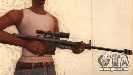 Barrett de Call of Duty MW2 pour GTA San Andreas troisième écran