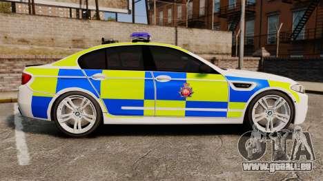 BMW M5 Greater Manchester Police [ELS] für GTA 4 linke Ansicht