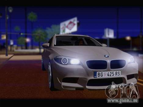 BMW M5 F11 Touring für GTA San Andreas zurück linke Ansicht