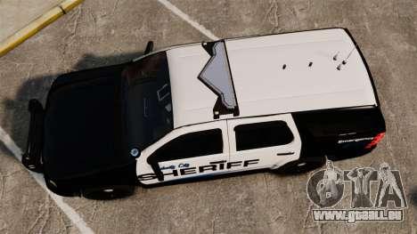 Chevrolet Tahoe 2008 Federal Signal Valor [ELS] pour GTA 4 est un droit