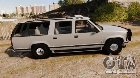 Chevrolet Suburban 1999 Police [ELS] für GTA 4 linke Ansicht
