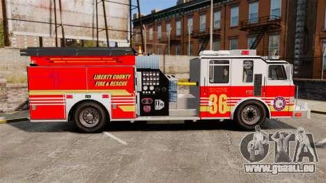 Firetruck LCFR [ELS] für GTA 4 linke Ansicht