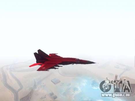 MiG 25 pour GTA San Andreas laissé vue