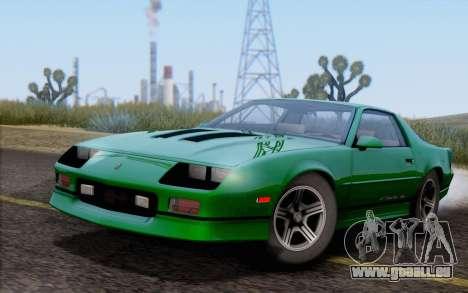 Chevrolet Camaro IROC-Z 1990 pour GTA San Andreas vue arrière