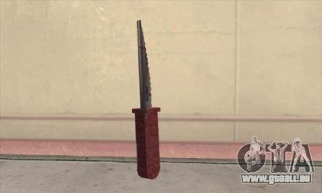 Faca Knife für GTA San Andreas zweiten Screenshot