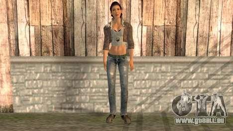 Alyx Vance de Half Life 2 pour GTA San Andreas