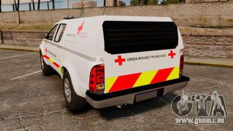 Toyota Hilux French Red Cross [ELS] pour GTA 4 Vue arrière de la gauche