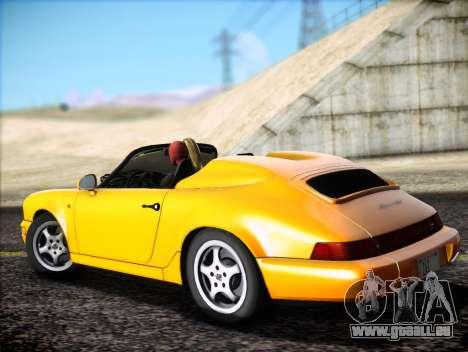 Porsche 911 Speedster Carrera 2 1992 pour GTA San Andreas vue intérieure