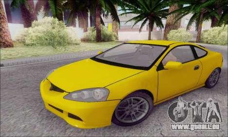 Acura RSX pour GTA San Andreas laissé vue