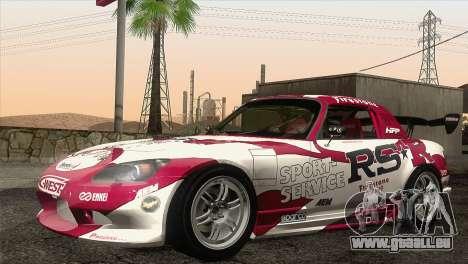 Honda S2000 RS-R für GTA San Andreas obere Ansicht