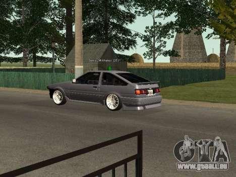 Toyota Corolla GTS Drift Edition pour GTA San Andreas vue de droite