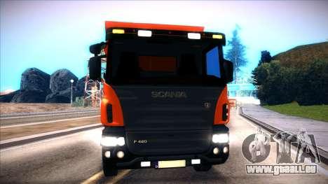 Scania P420 pour GTA San Andreas sur la vue arrière gauche