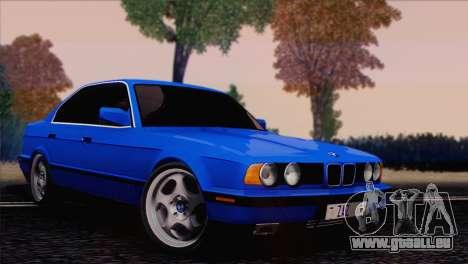 BMW 535i E34 Mafia Style pour GTA San Andreas sur la vue arrière gauche