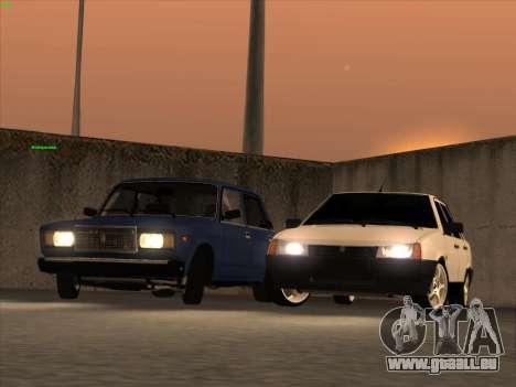 ВАЗ 21074 pour GTA San Andreas vue de dessus