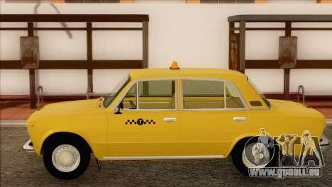 Taxi VAZ 21011 pour GTA San Andreas sur la vue arrière gauche
