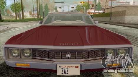 Chrysler New Yorker 4 Door Hardtop 1971 für GTA San Andreas rechten Ansicht