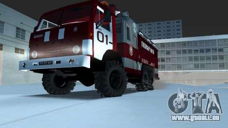 KAMAZ 43101 pompier pour une vue GTA Vice City de la droite