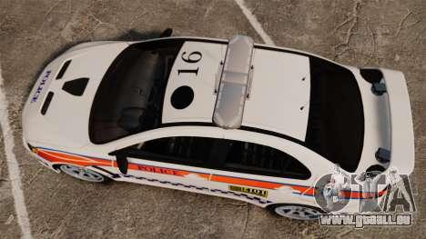 Mitsubishi Lancer Evo X Humberside Police [ELS] für GTA 4 rechte Ansicht
