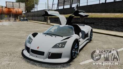 Gumpert Apollo S 2011 pour GTA 4 vue de dessus