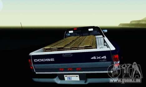 Dodge Ram 3500 pour GTA San Andreas vue de dessus