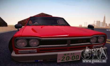 Nissan Skyline 2000GTR 1967 Hellaflush für GTA San Andreas Unteransicht