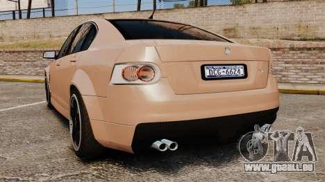 Holden HSV W427 2009 für GTA 4 hinten links Ansicht