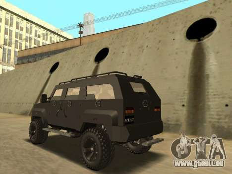 Ford Super Duty Armored für GTA San Andreas linke Ansicht