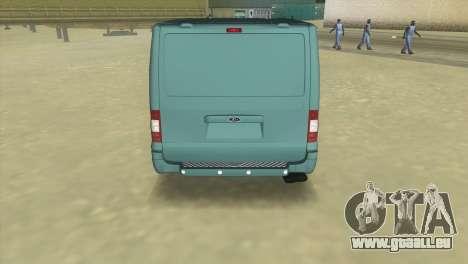 Ford Transit Sportback 2011 pour GTA Vice City sur la vue arrière gauche