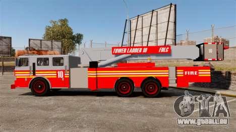 MTL Firetruck Tower Ladder [ELS-EPM] pour GTA 4 est une gauche