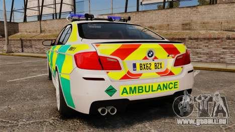 BMW M5 Ambulance [ELS] pour GTA 4 Vue arrière de la gauche