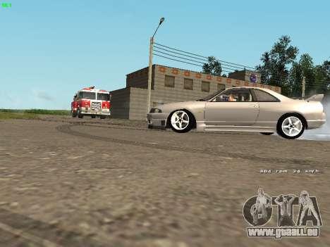 Nissan Skyline R33 GT-R pour GTA San Andreas sur la vue arrière gauche