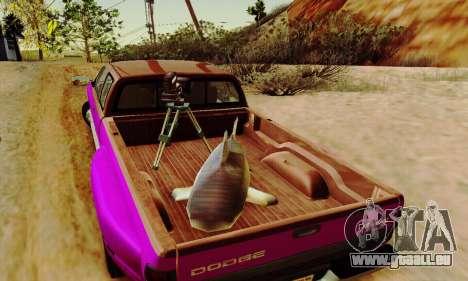 Dodge Ram 3500 pour GTA San Andreas vue de dessous