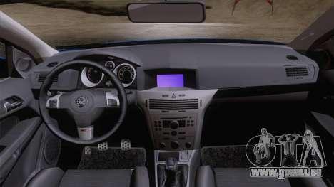 Vauxhall Astra VXR  2007 für GTA San Andreas rechten Ansicht
