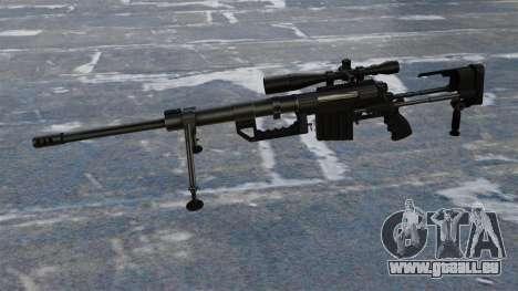 Fusil de sniper CheyTac Intervention pour GTA 4 troisième écran