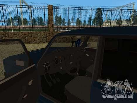 VAZ 2105 pour GTA San Andreas vue arrière