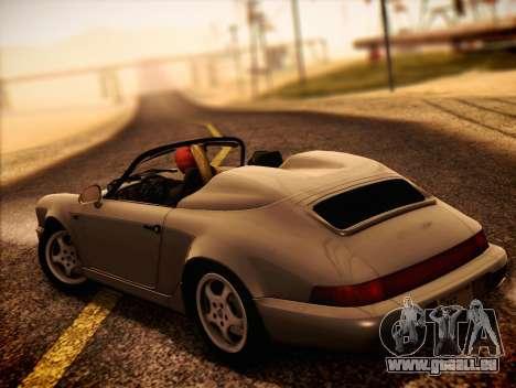 Porsche 911 Speedster Carrera 2 1992 pour GTA San Andreas laissé vue