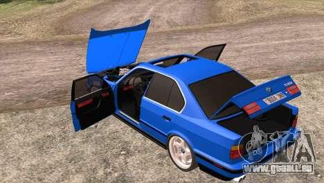 BMW 535i E34 Mafia Style pour GTA San Andreas vue de côté