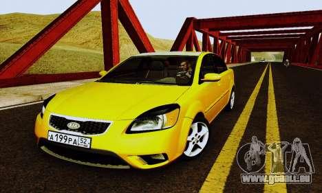Kia Rio II 2009 für GTA San Andreas obere Ansicht