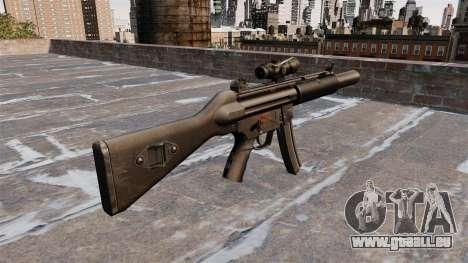 Pistolet mitrailleur HK MP5SD2 pour GTA 4 secondes d'écran