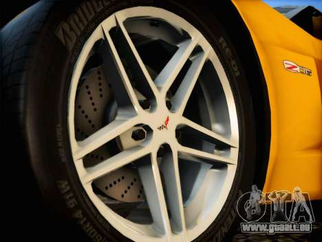 Chevrolet Corvette Z06 2006 v2 pour GTA San Andreas vue de droite