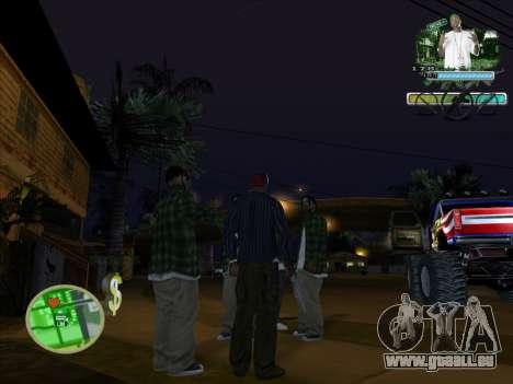 C-HUD Groove Street pour GTA San Andreas deuxième écran