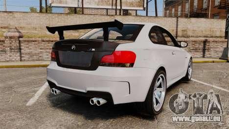 BMW 1M 2014 pour GTA 4 Vue arrière de la gauche