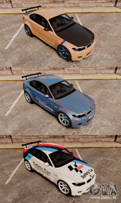 BMW 1M 2014 pour GTA 4 est une vue de dessous