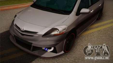 Toyota Vios Slalom Edition pour GTA San Andreas sur la vue arrière gauche