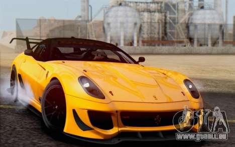 Ferrari 599XX Evolution pour GTA San Andreas vue arrière