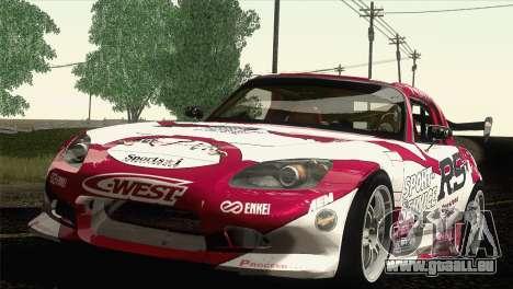 Honda S2000 RS-R pour GTA San Andreas vue intérieure