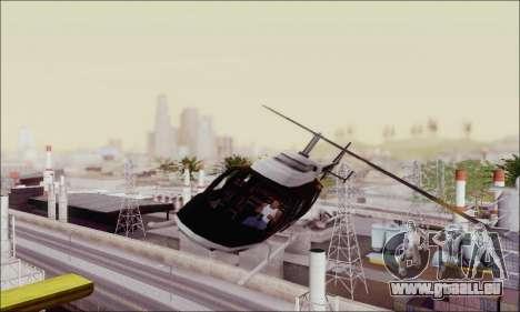 Police Maverick für GTA San Andreas Rückansicht