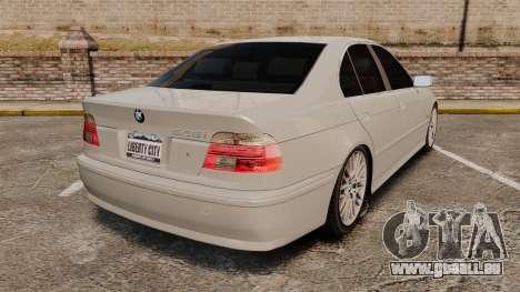 BMW 525i (E39) pour GTA 4 Vue arrière de la gauche
